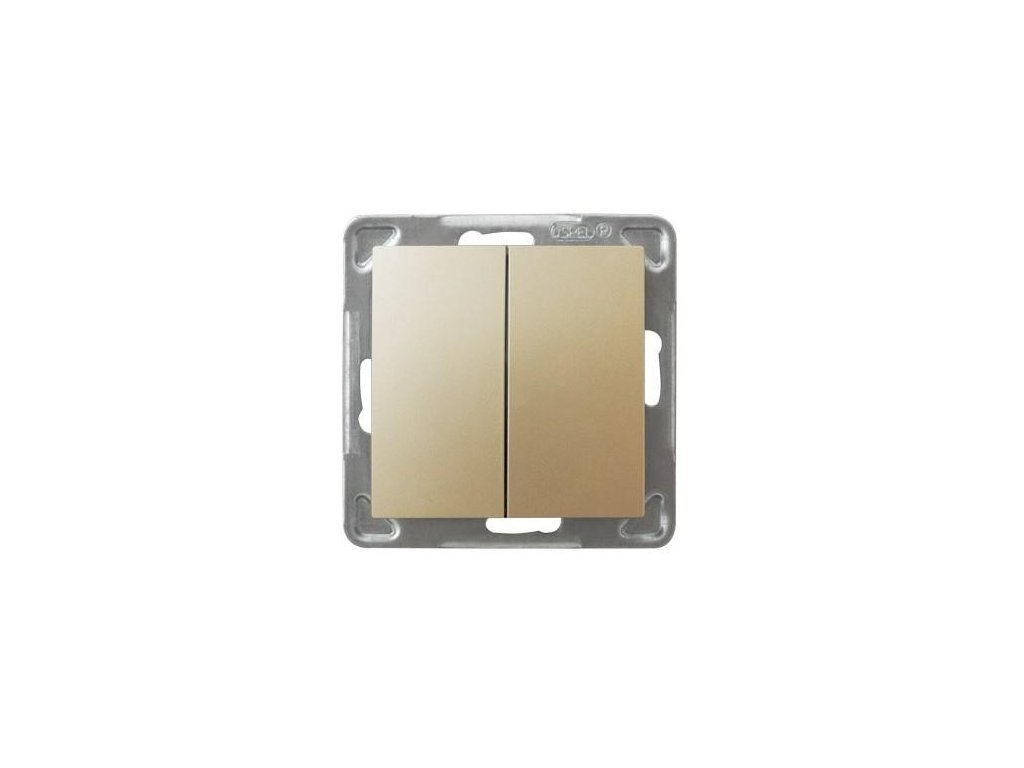 OSPEL Impresja přepínač dvojitý schodišťový zlatý