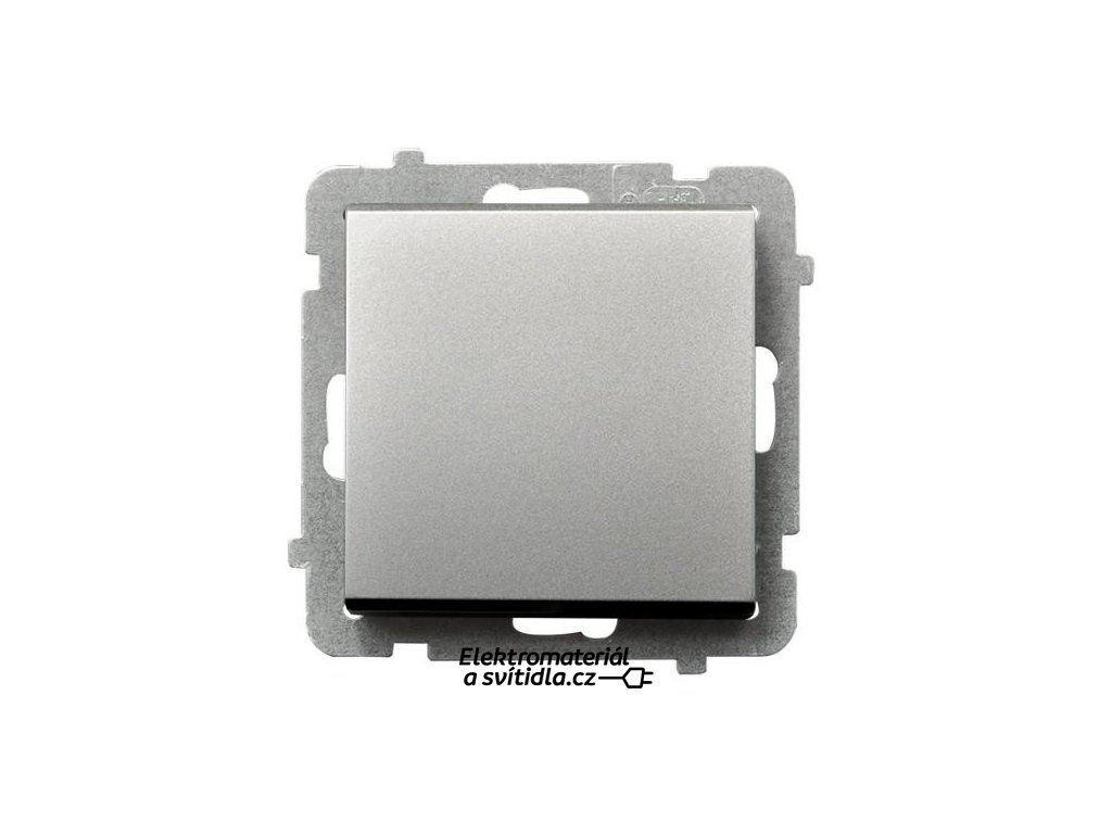 OSPEL Sonáta spínač jednopolový stříbrný