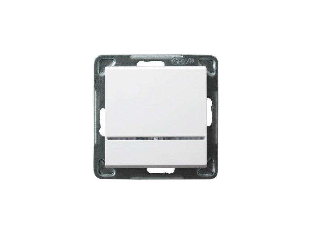 OSPEL Sonáta spínač jednopolo spínač se signalizač doutnavkou bílý
