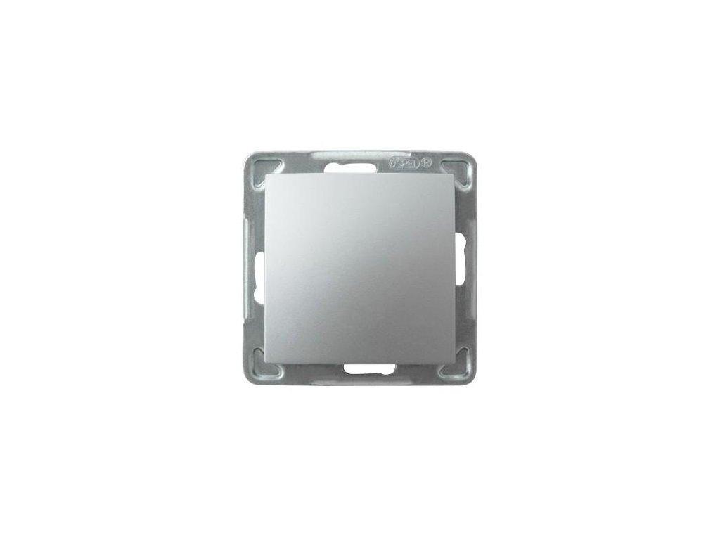 OSPEL Impresja spínač jednopolový stříbrný