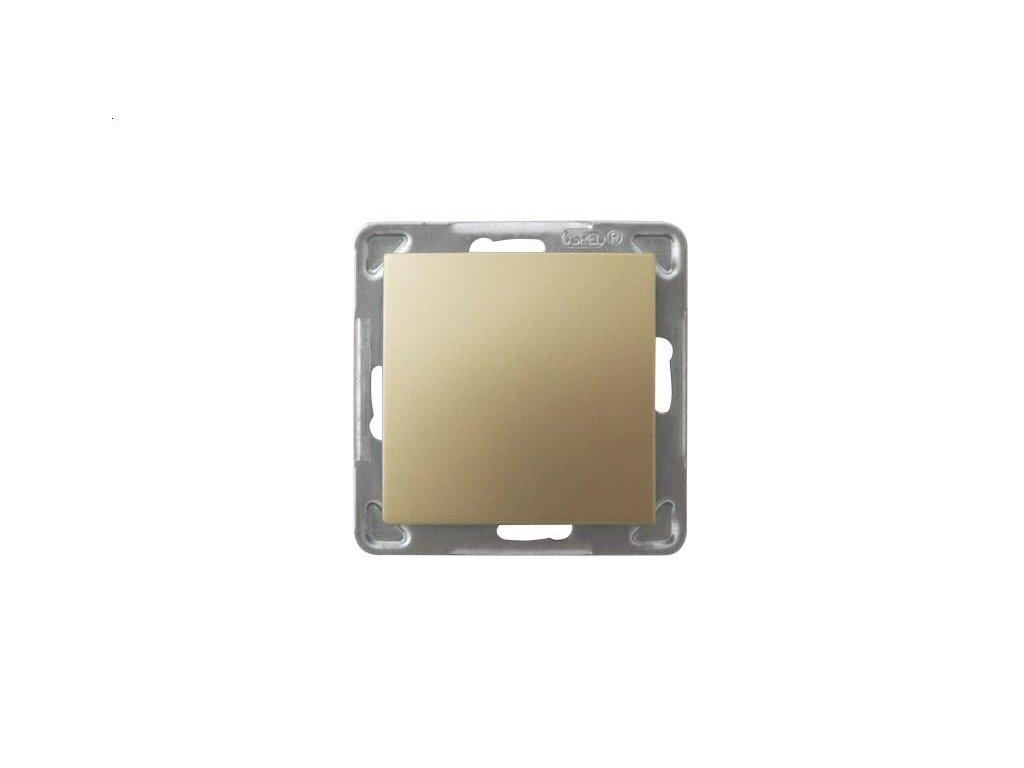 OSPEL Impresja spínač jednopolový zlatý