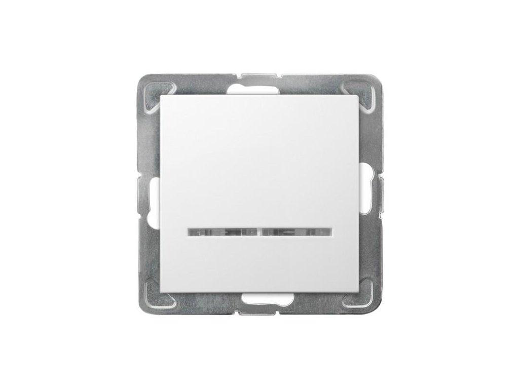 OSPEL Impresja spínač jednopolový bílý s doutnavkou