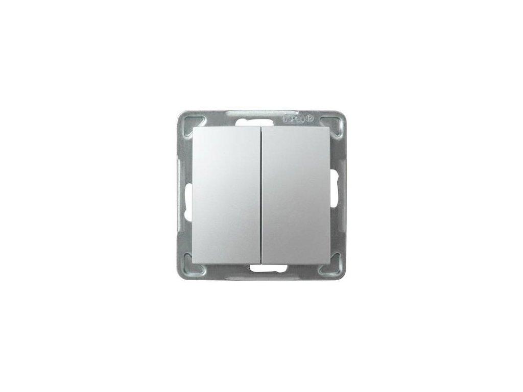 OSPEL Impresja přepínač lustrový stříbrný