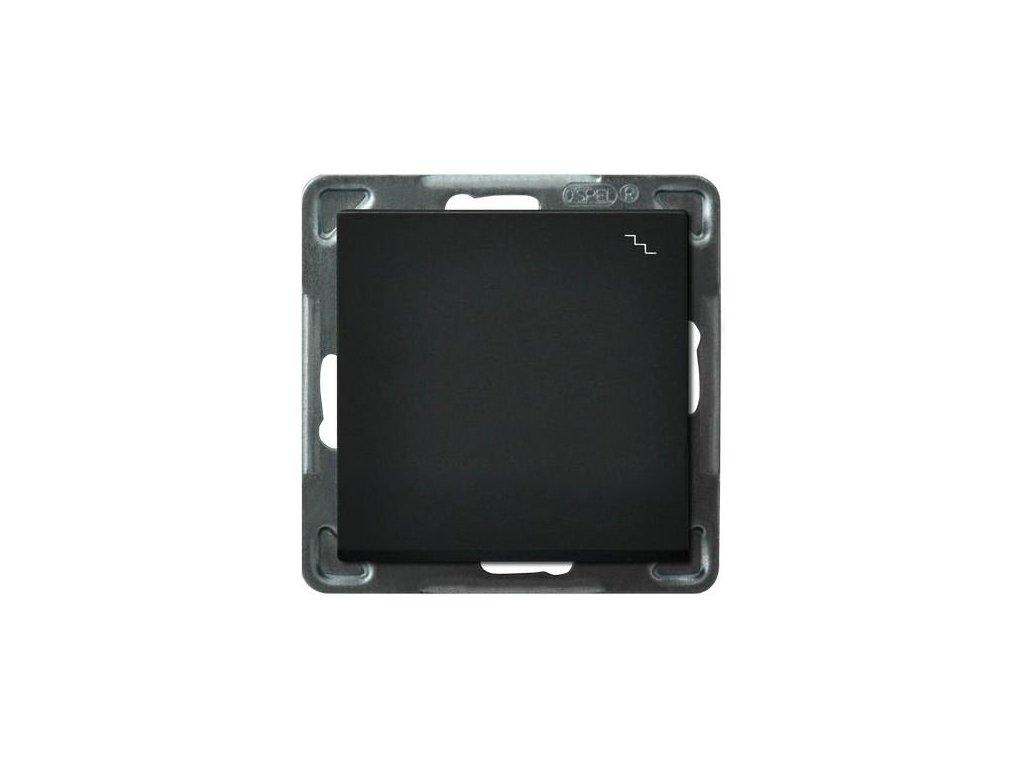 OSPEL Sonáta přepínač schodišťový černý