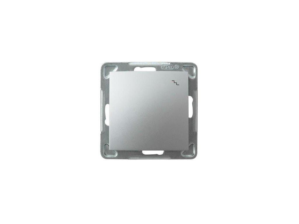 OSPEL Impresja přepínač schodišťový stříbrný