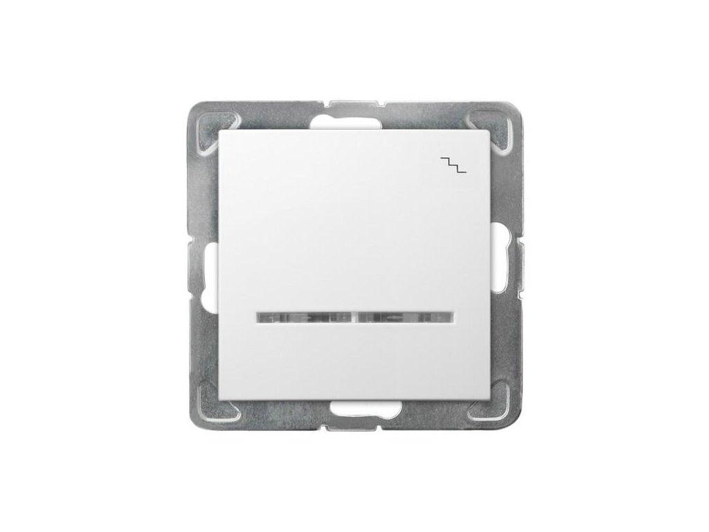 OSPEL Impresja přepínač schodišťový bílý s doutnavkou