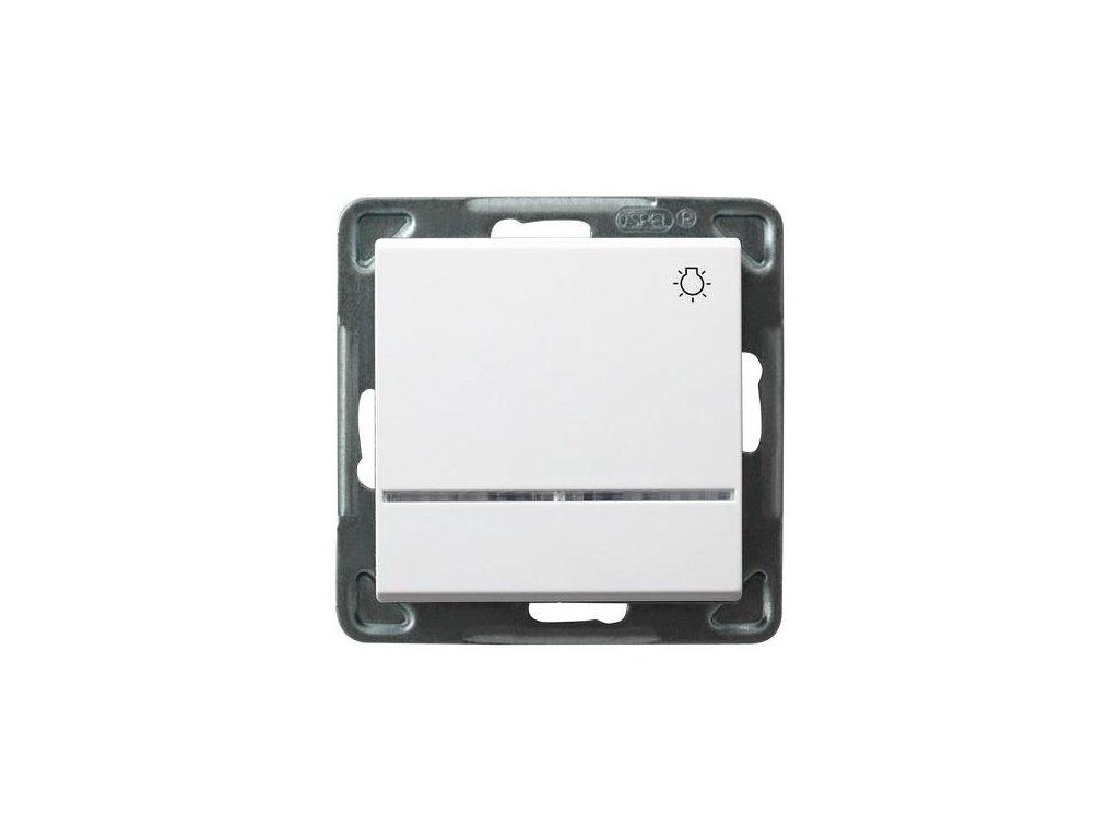 OSPEL Sonáta tlačítko orientační s podsvětlením bílý