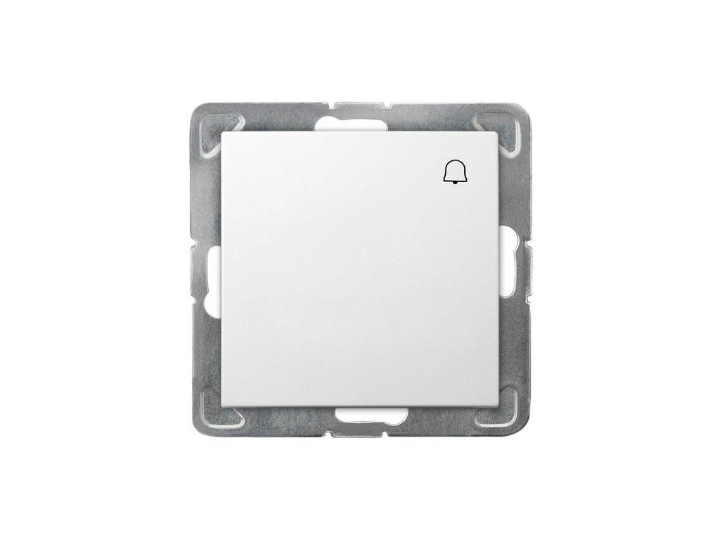 OSPEL Impresja tlačítko zvonkové bílé