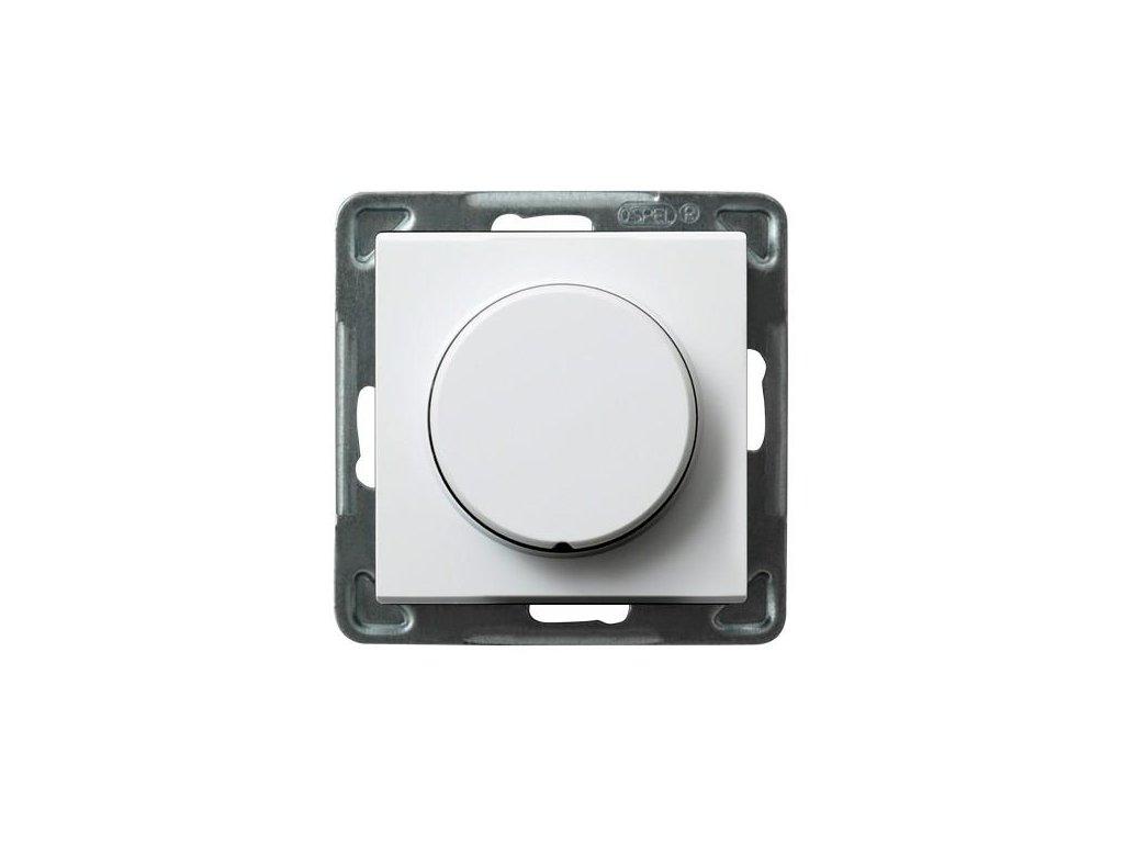 OSPEL Sonáta stmívač otočný pro LED žárovky bílý