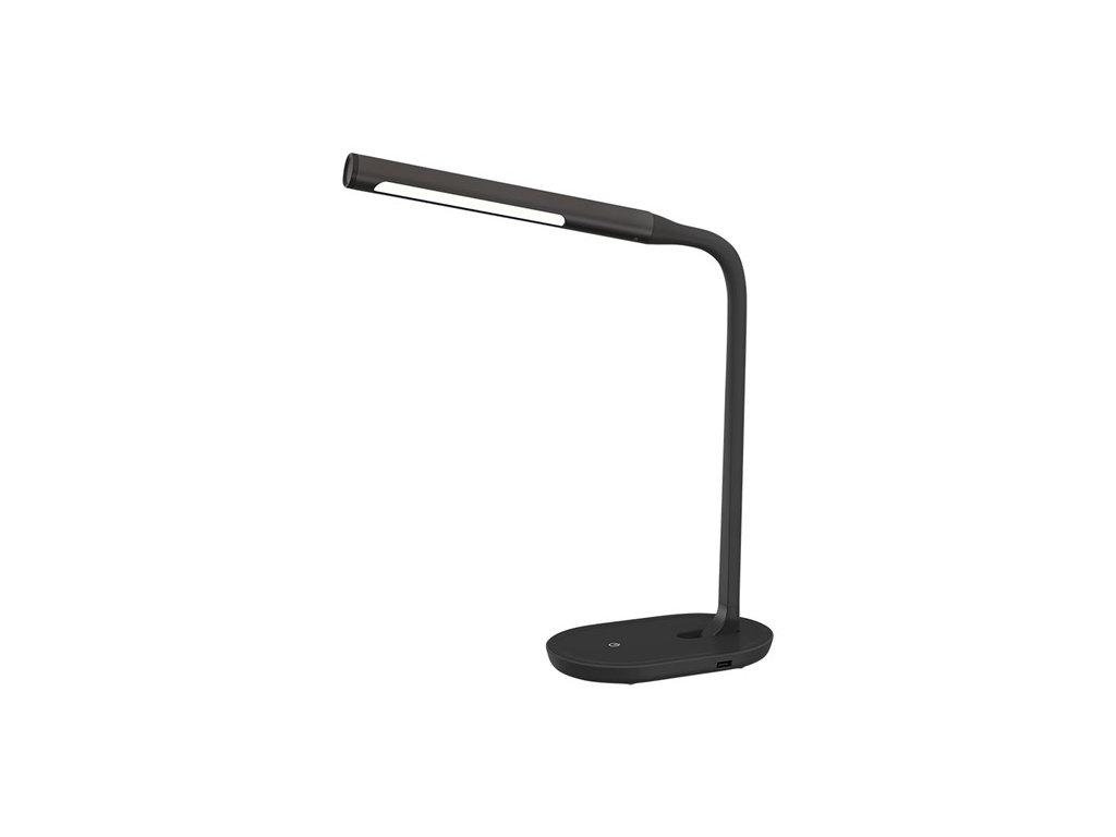 Solight LED stolní lampička stmívatelná, 8W, 4500K, USB, černá