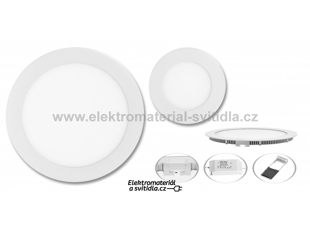Ecolite LED WSL-18W/4100K, vestavné, bílé, ø 22,5cm