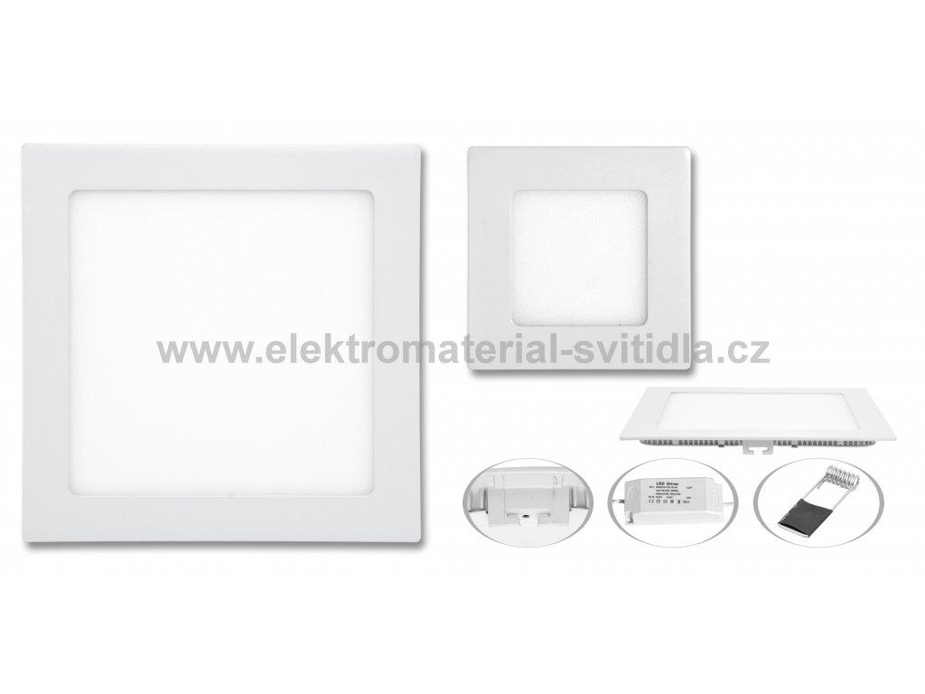Ecolite LED WSQ-12W/2700K, bílé, 17x17cm