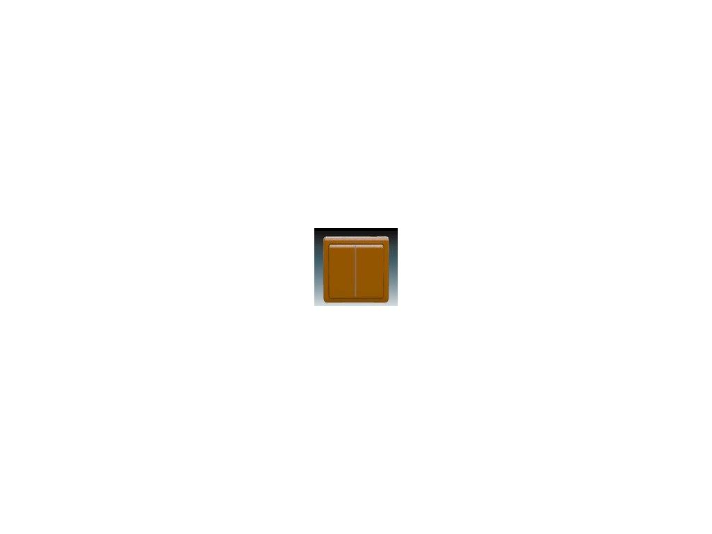 ABB 3553-05289H3 Přepínač sériový ( lustrový ) hnědý Classic