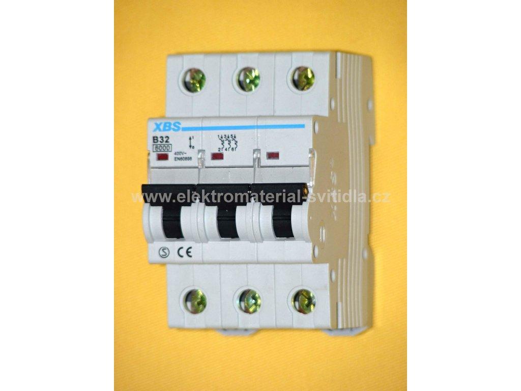 XBS jistič B 32A/3P, 6kA, 400V