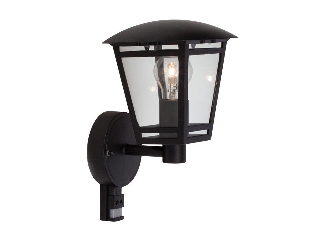 Ecolite LAURA černá, žárovkové se senzorem pohybu
