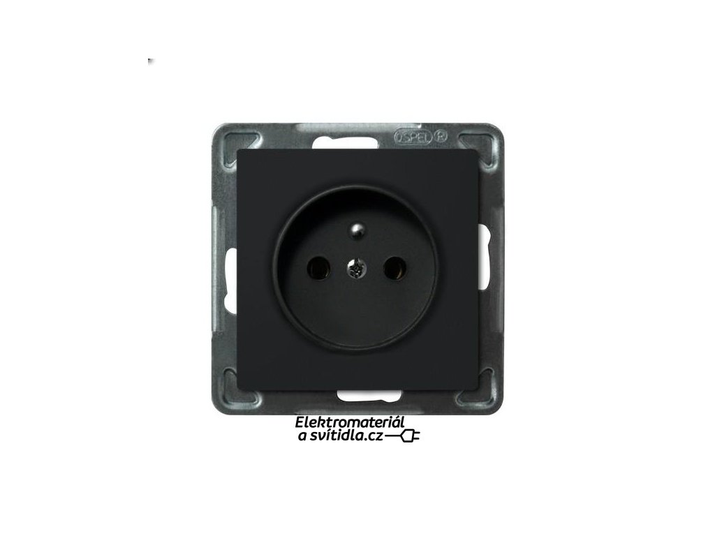 OSPEL Sonáta zásuvka jednoduchá černá