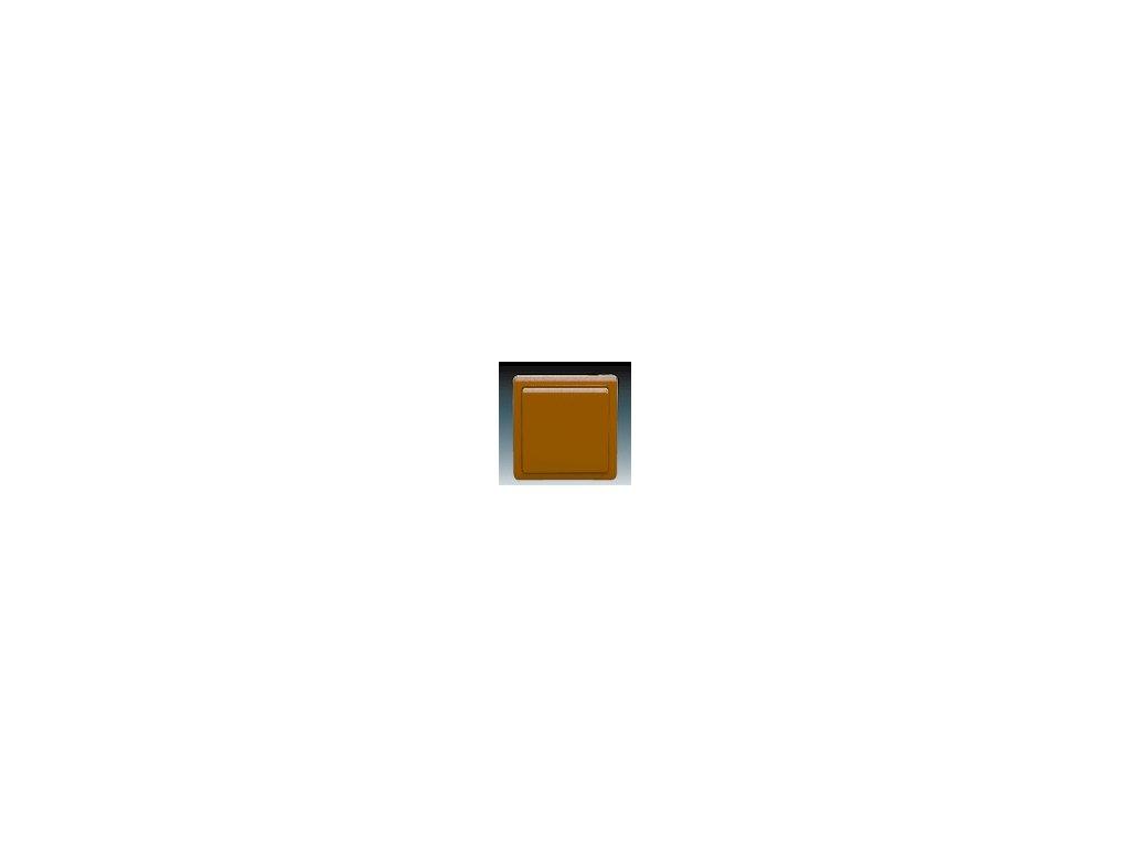 ABB 3553-07289H3 Přepínač křížový hnědý Classic