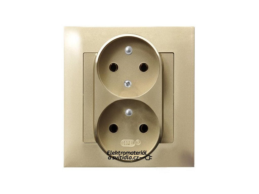 OSPEL Impresja dvojzásuvka zlatá