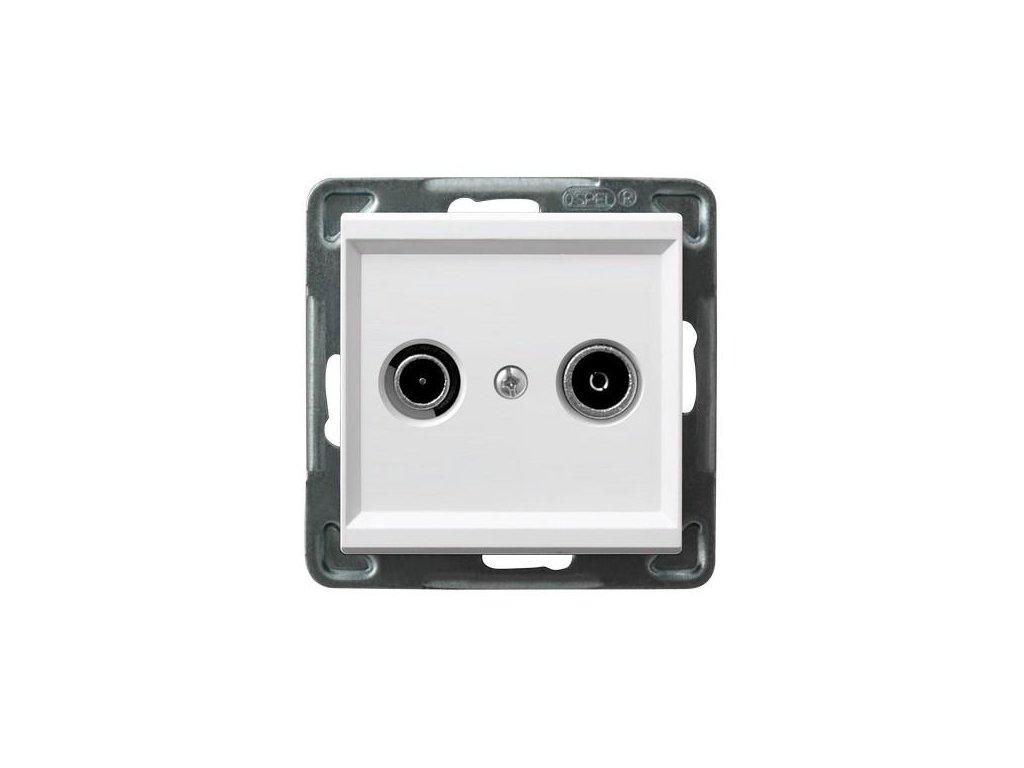 OSPEL Sonáta zásuvka televizní, rozhlasová průběžná bílá