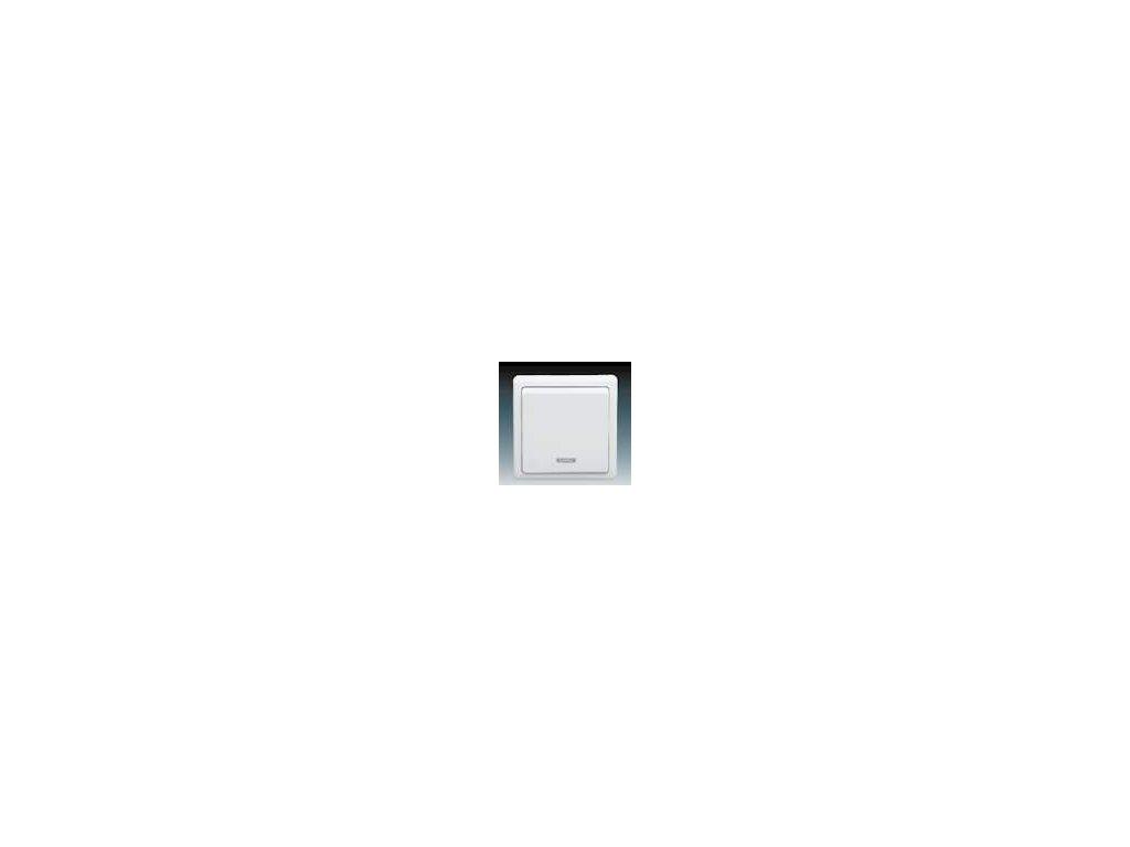 ABB 3553-21289B1 Spínač jednopólový se signalizační doutnavkou bílý Classic
