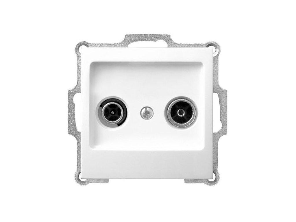 OSPEL Impresja zásuvka televizní a rozhlasová průběžná bílá