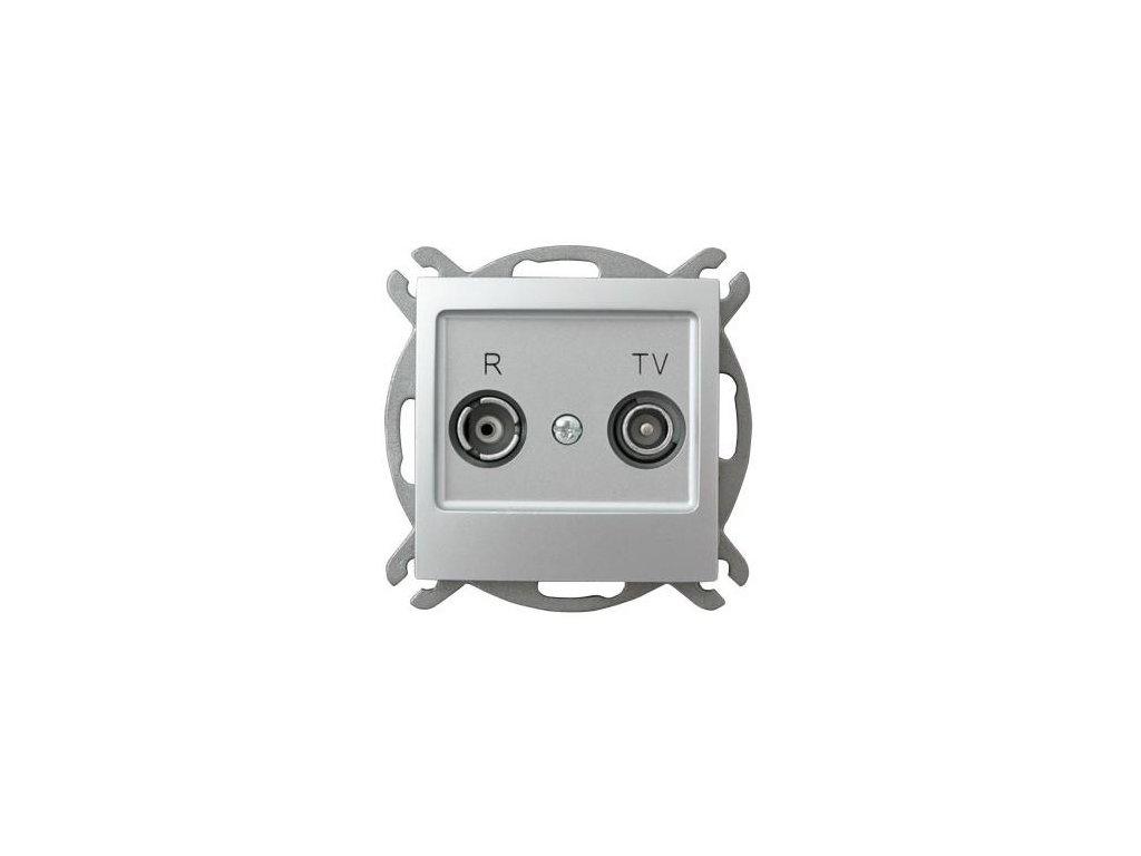 OSPEL Impresja zásuvka televizní a rozhlasová průběžná stříbrná