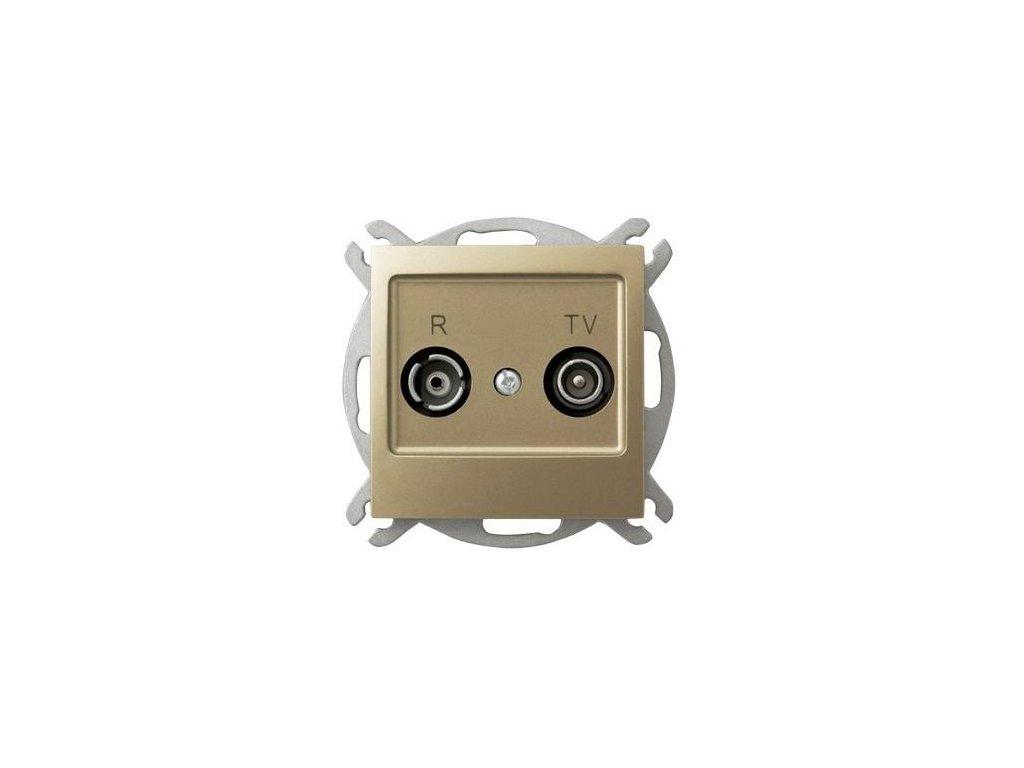 OSPEL Impresja zásuvka televizní a rozhlasová průběžná zlatá
