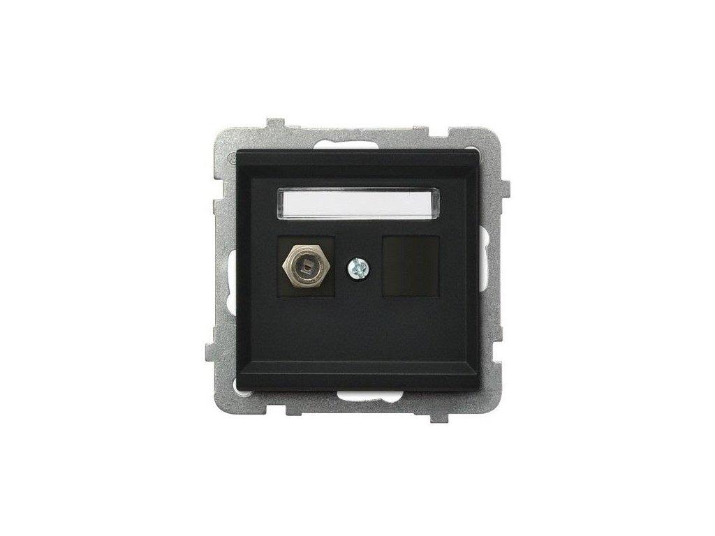 OSPEL Sonáta zásuvka televizní koncová černá