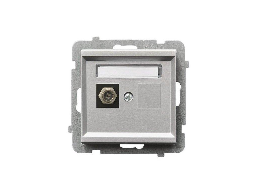 OSPEL Sonáta zásuvka televizní koncová stříbrná