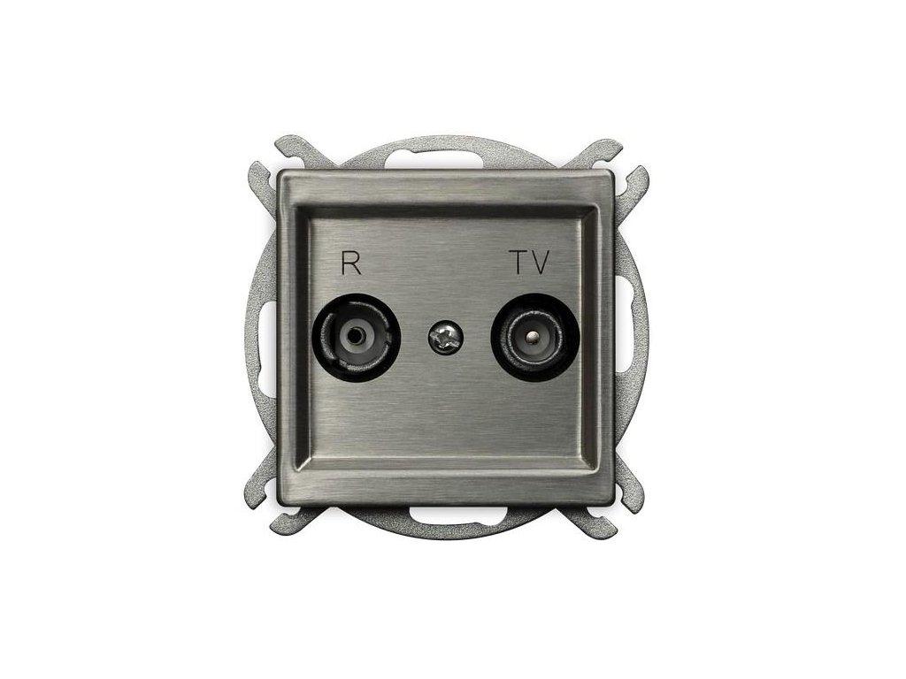 OSPEL Sonáta zásuvka televizní a rozhlasová koncová ocel