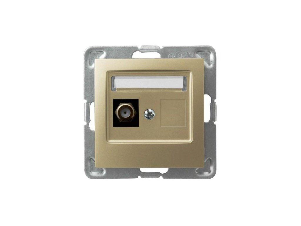 OSPEL Impresja zásuvka televizní koncová zlatá