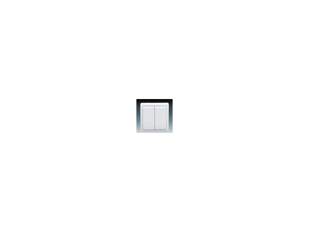 ABB 3553-52289B1 Přepínač dvojitý střídavý ( schodišťový) bílý Classic