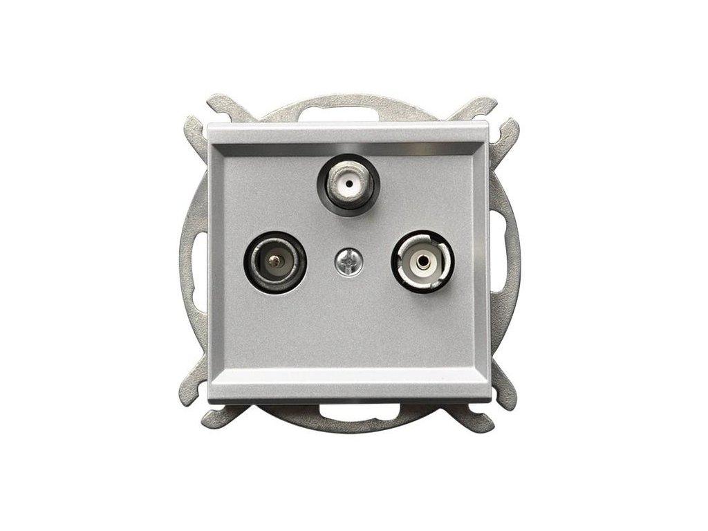 OSPEL Sonáta zásuvka televizní, rozhlasová a satelitní kon stříbrná