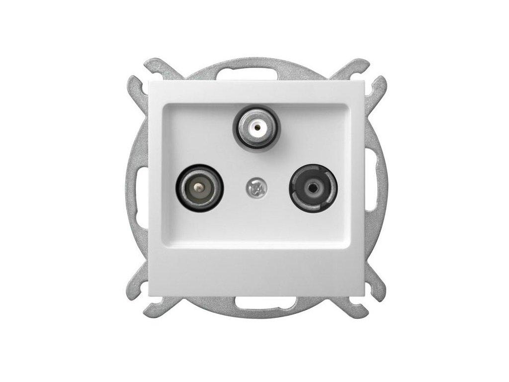 OSPEL Impresja zásuvka televizní, rozhlasová a satelitní koncová bílá