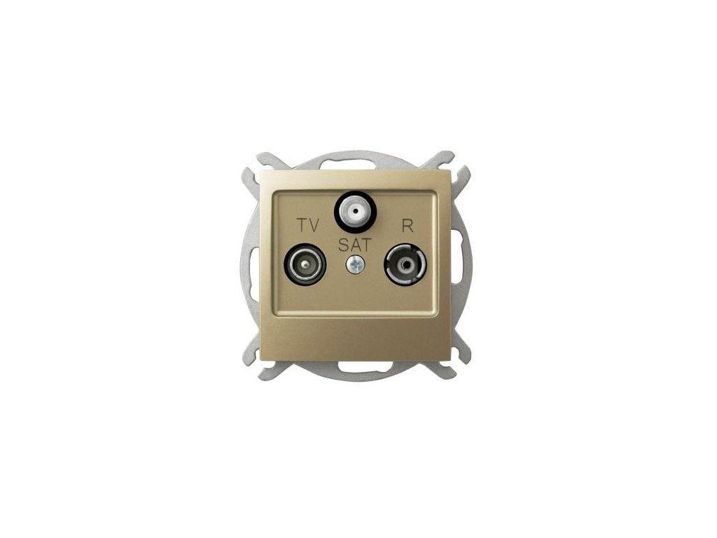 OSPEL Impresja zásuvka televizní, rozhlasová a satelitní koncová zlatá