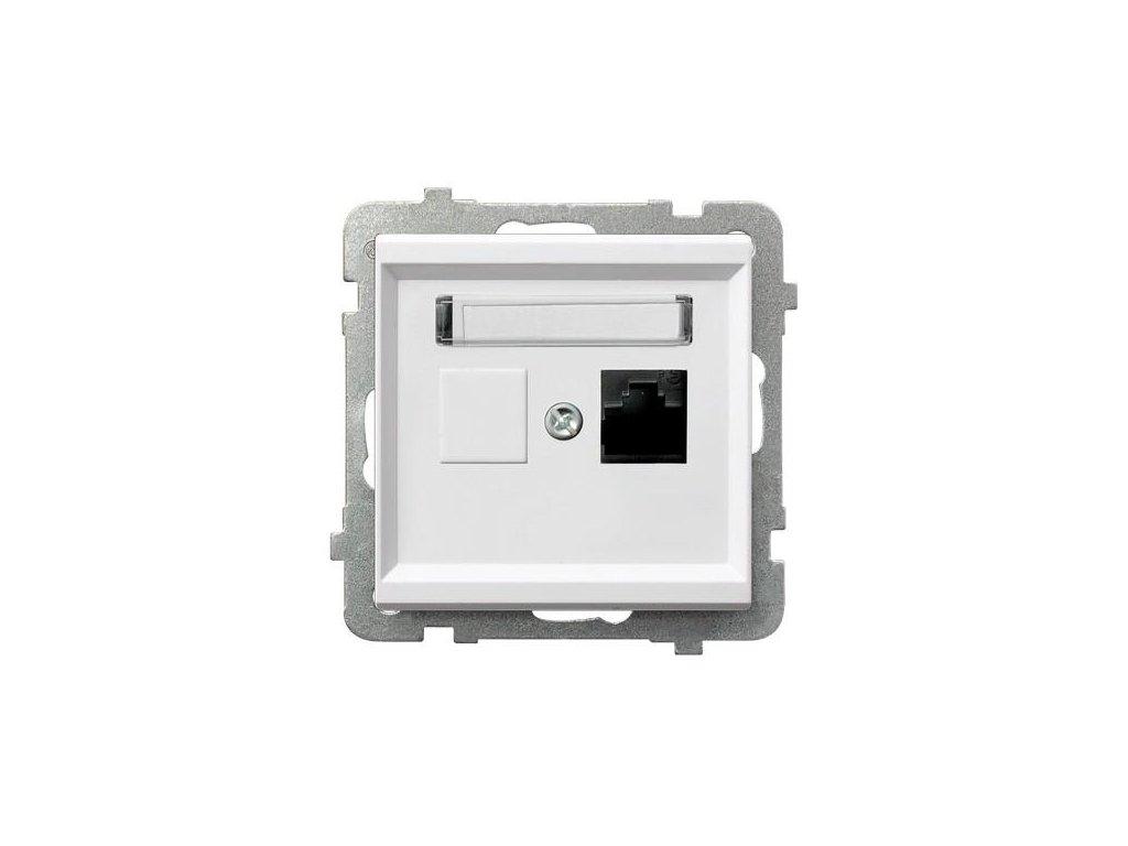 OSPEL Sonáta zásuvka datová kat. 5e bílá