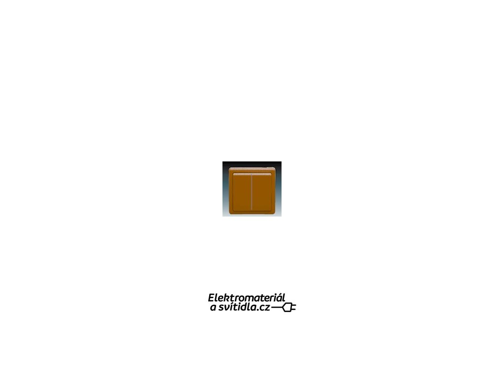 ABB 3553-52289H3 Přepínač dvojitý střídavý ( schodišťový) hnědý Classic