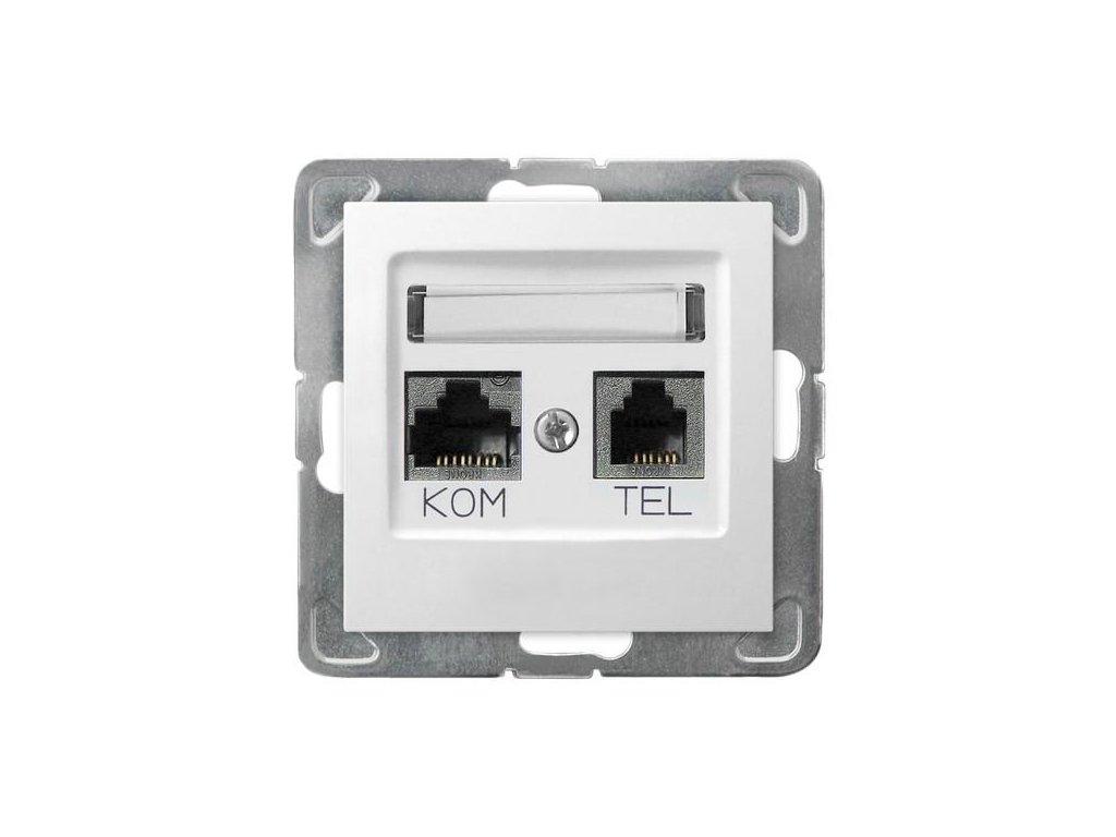OSPEL Impresja zásuvka telefonní a datová bílá