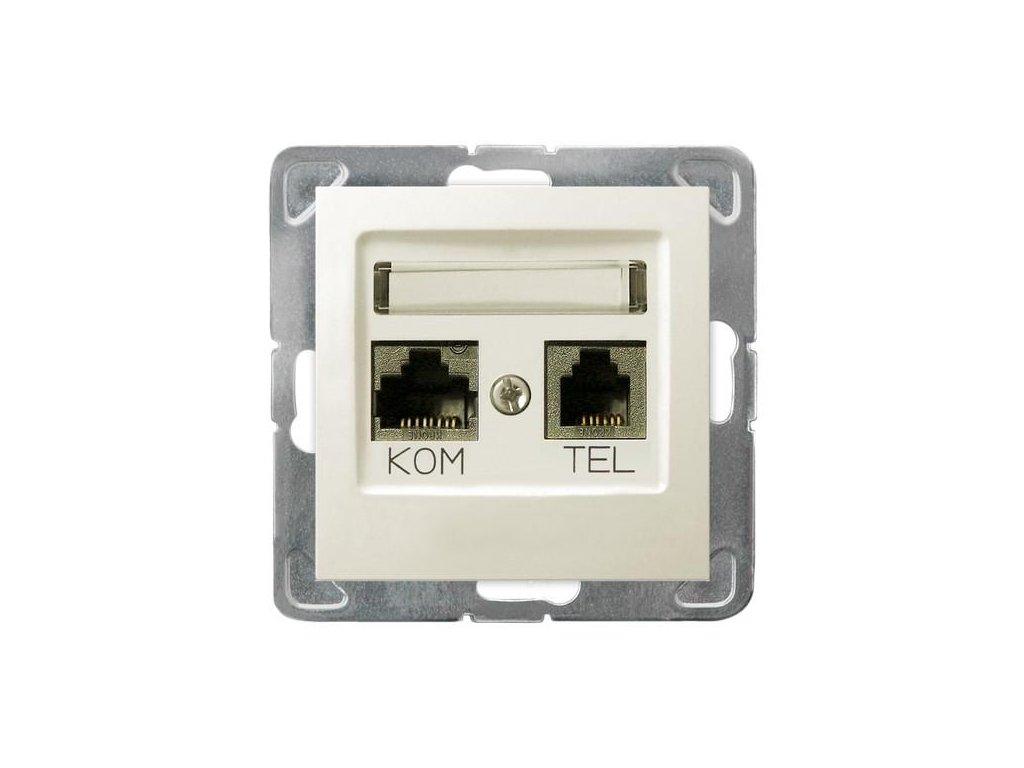OSPEL Impresja zásuvka telefonní a datová slonová kost