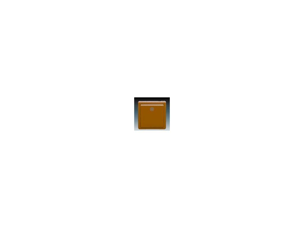 ABB 3553-80289H3 Ovládač (tlačítko) zapínací hnědý Classic