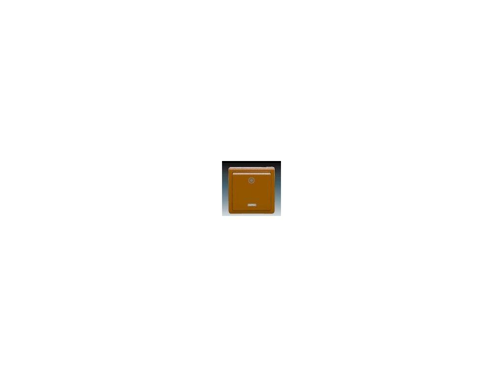 ABB 3553-93289H3 Ovládač (tlačítko) zapínací s ori. doutnavkou hnědý Classic