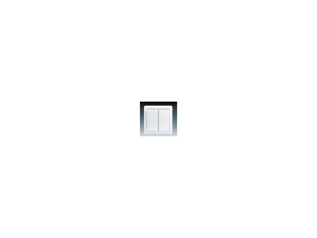 ABB 3557G-C52340B1 Přepínač střídavý ( schodišťový) dvojitý  bílý Swing