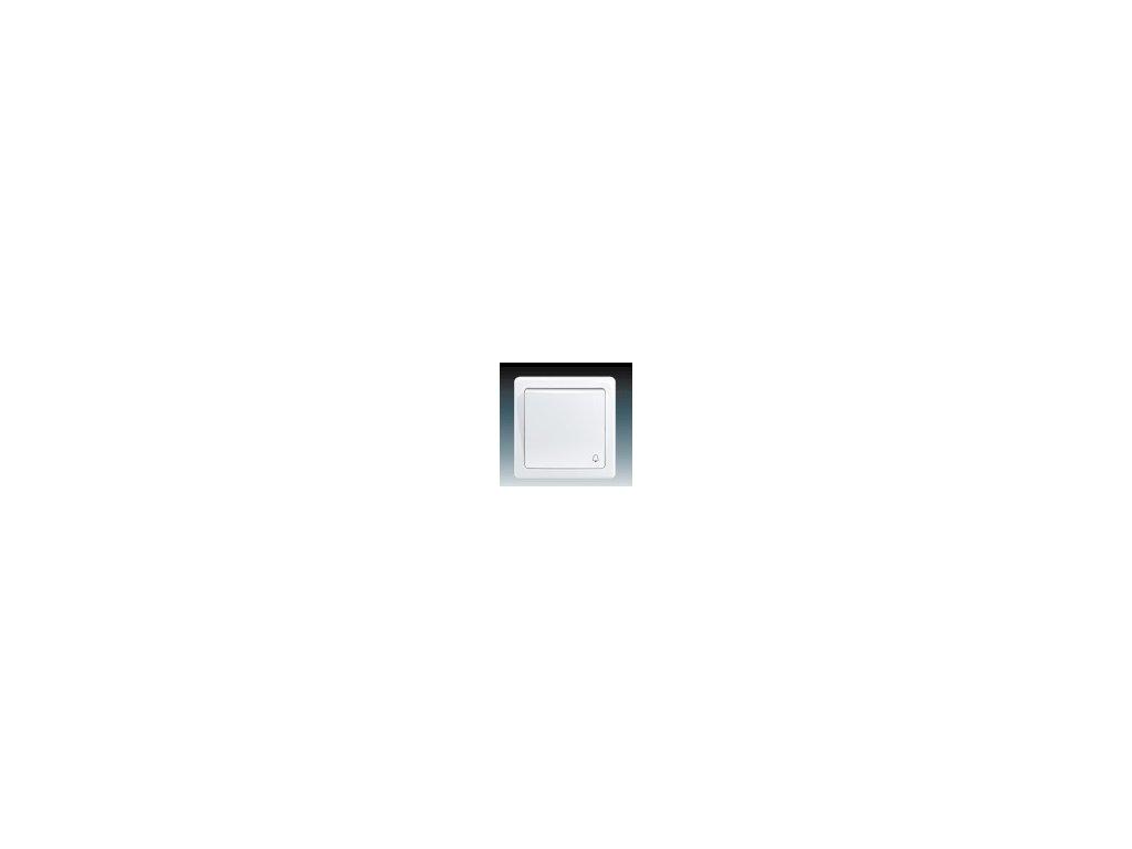 ABB 3557G-C80343B1 Ovládač (tlačítko) zapínací se symbolem zvonku bílý Swing