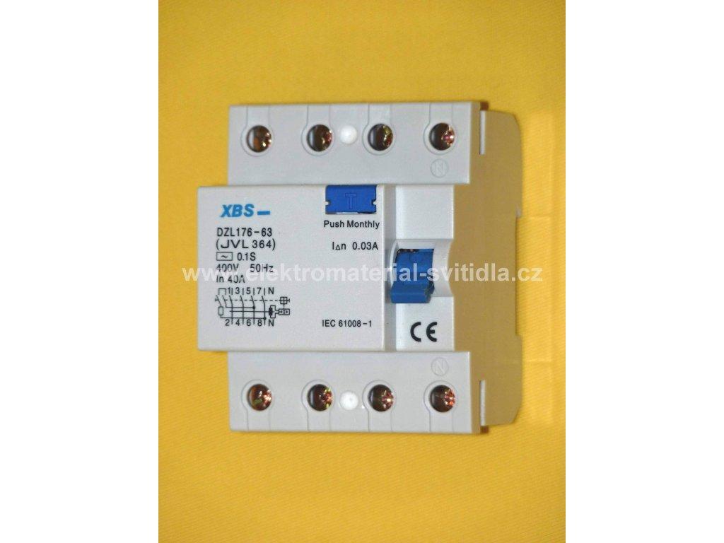 XBS proudový chránič 40A/4P/0,03