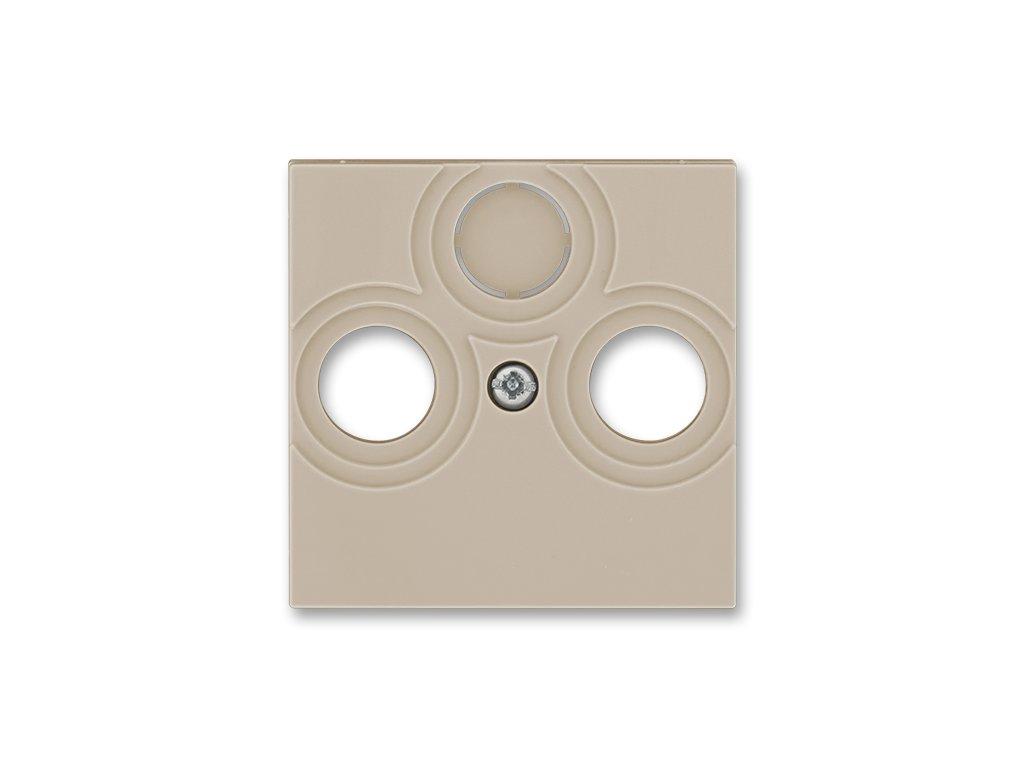 ABB LEVIT 5011H-A00300-18 Kryt TV+R+SAT macchiato