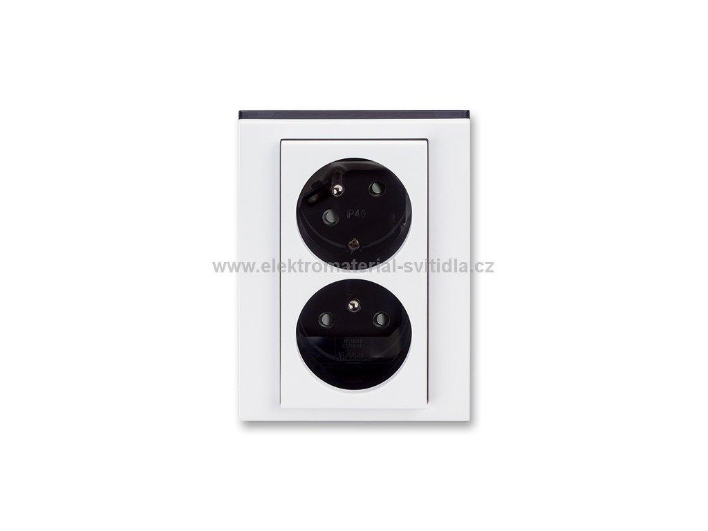 ABB LEVIT 5513H-C02357-62 bílá/kouřová černá