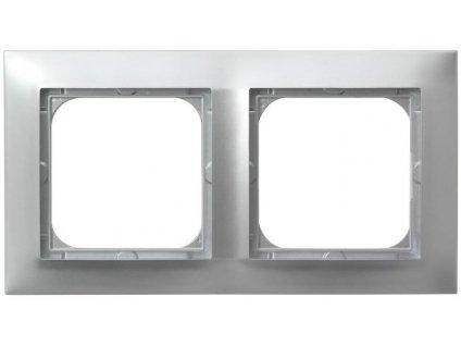 OSPEL Impresja dvojrámeček  stříbrný