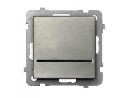OSPEL Sonáta spínač jednopolový ocel