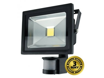 Solight REFLEKTOR LED 20W PIR černý, 1600lm, 6000K