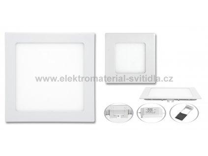 Ecolite LED WSQ-06W/4100K, vestavné, bílé, 12x12cm
